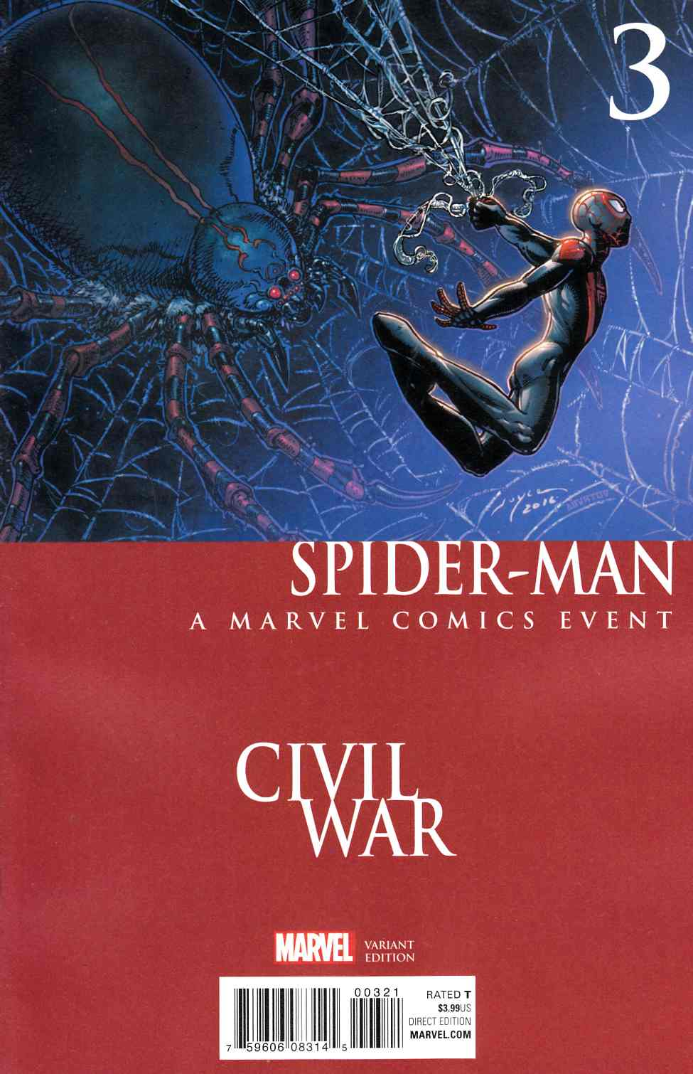 Spider-Man #3 Civil War Variant Cover [Marvel Comic] THUMBNAIL