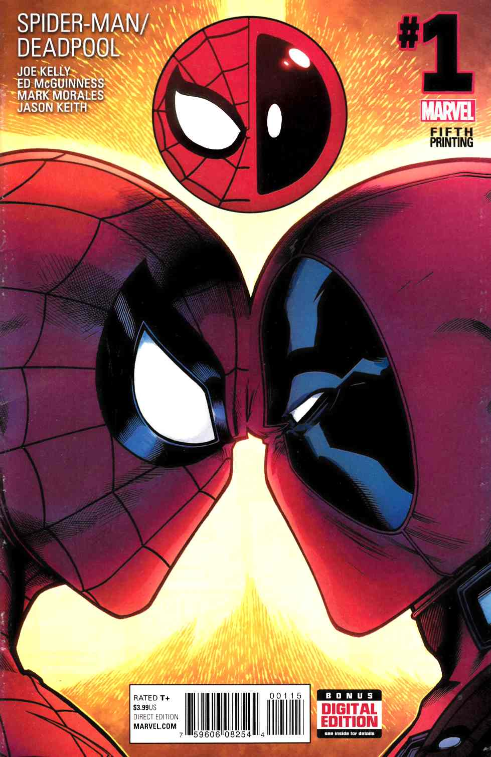 Spider-Man Deadpool #1 Fifth Printing [Marvel Comic] THUMBNAIL