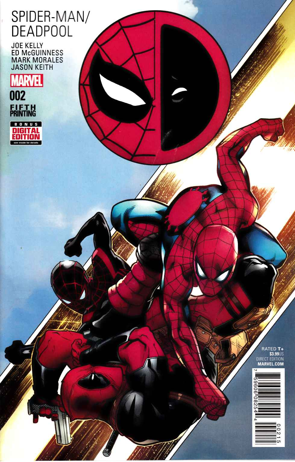 Spider-Man Deadpool #2 Fifth Printing Near Mint (9.4) [Marvel Comic] LARGE