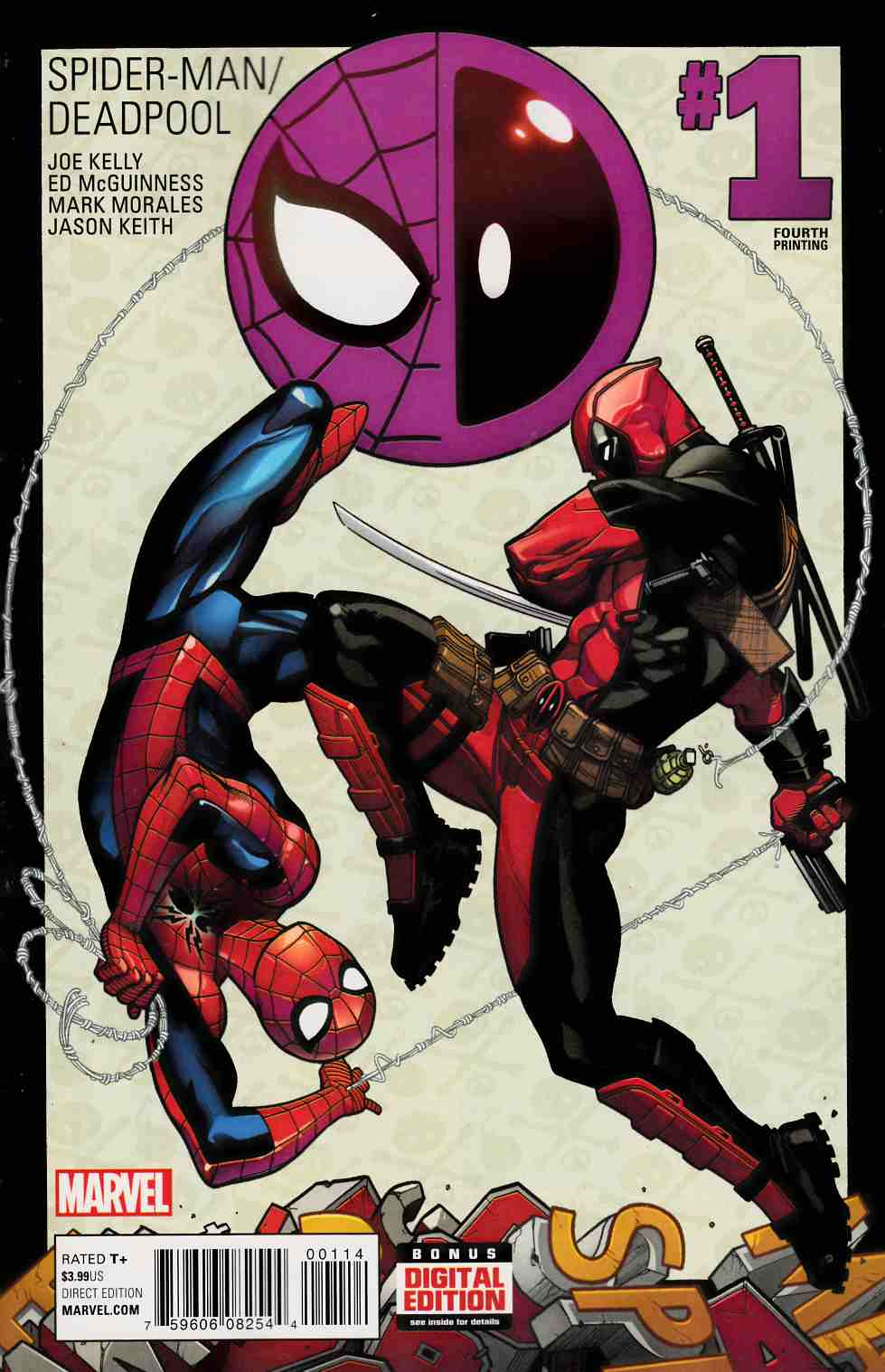Spider-Man Deadpool #1 Fourth Printing [Marvel Comic] THUMBNAIL