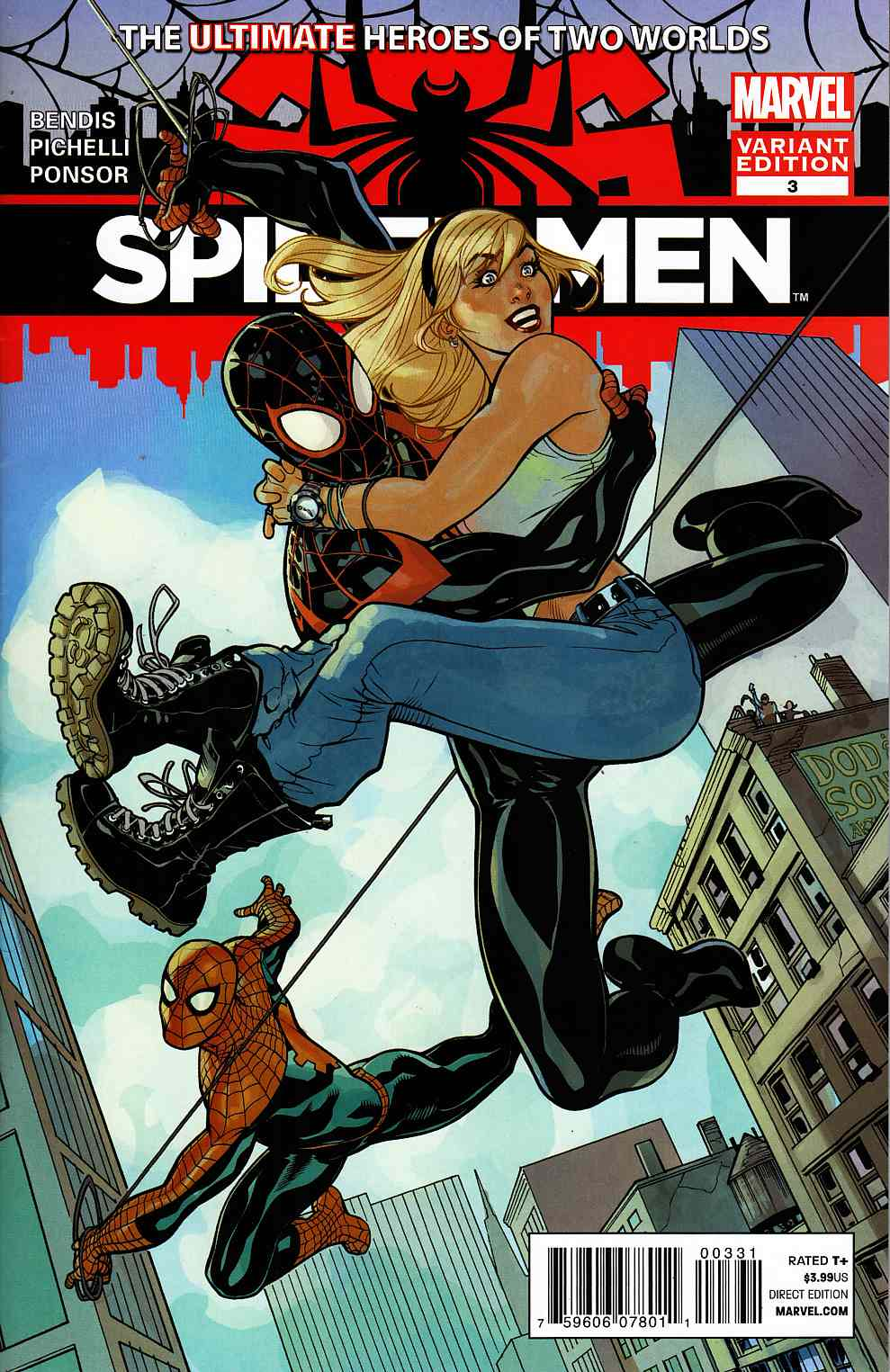 Spider-Men #3 Dodson Variant Cover Very Fine Plus (8.5) [Marvel Comic] THUMBNAIL