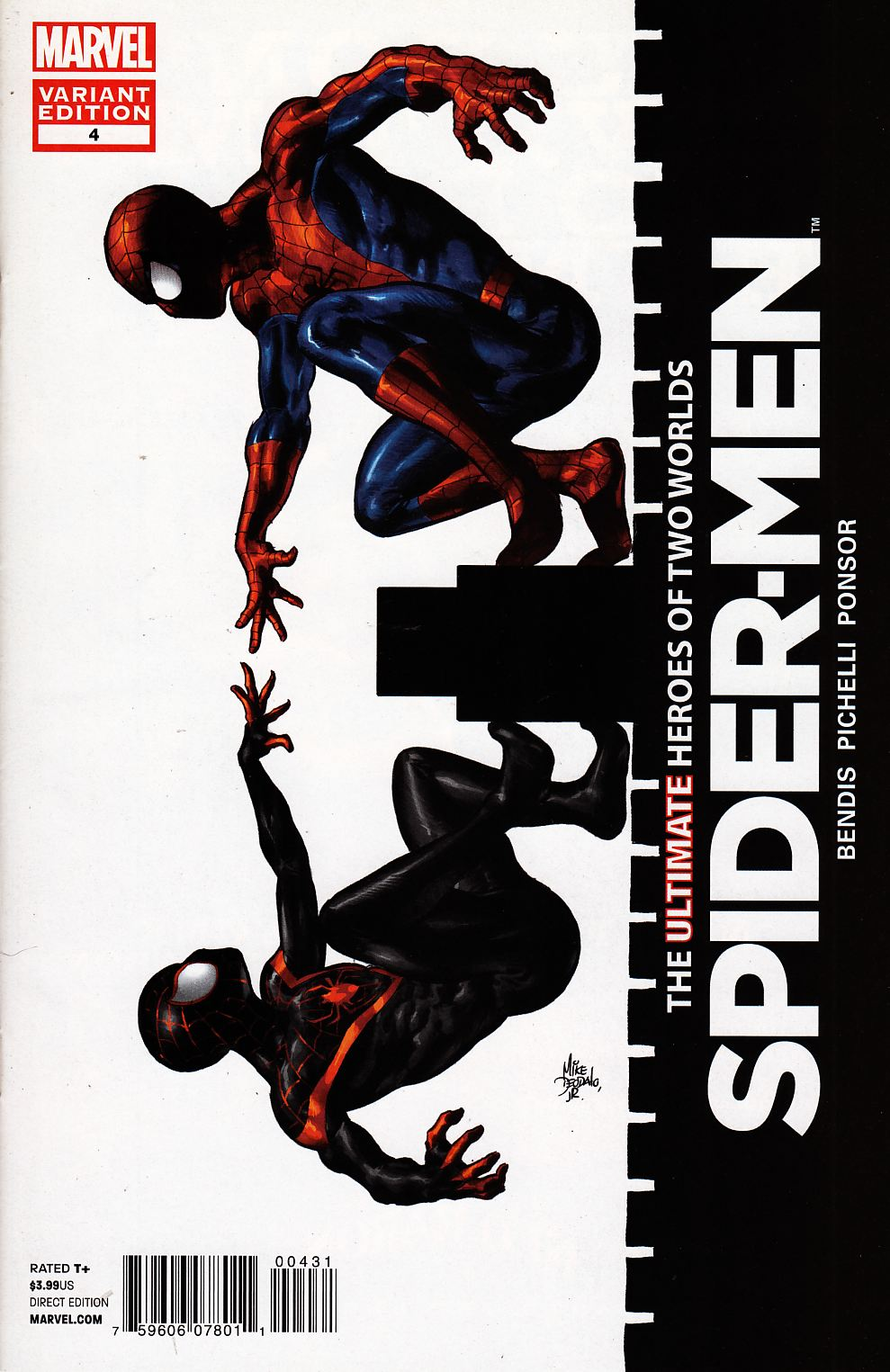 Spider-Men #4 Deodato Variant Cover Near Mint Minus (9.2) [Marvel Comic] THUMBNAIL