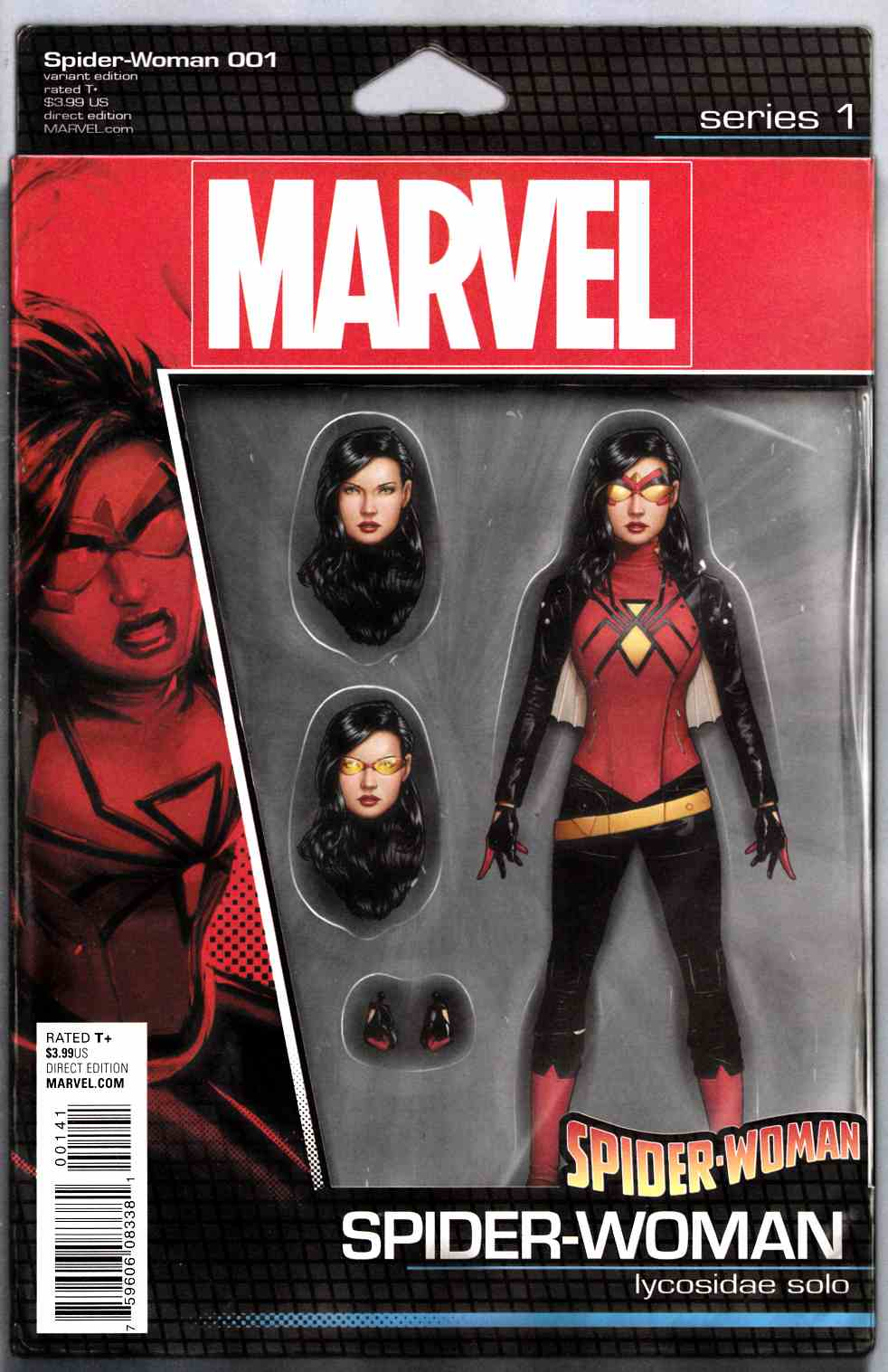 Spider-Woman #1 Christopher Action Figure Variant Cover [Marvel Comic] THUMBNAIL