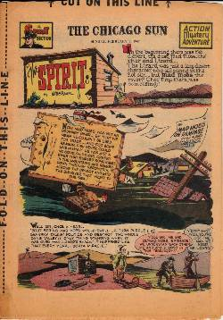 Spirit Weekly Newspaper Comic [February 9th 1947] LARGE
