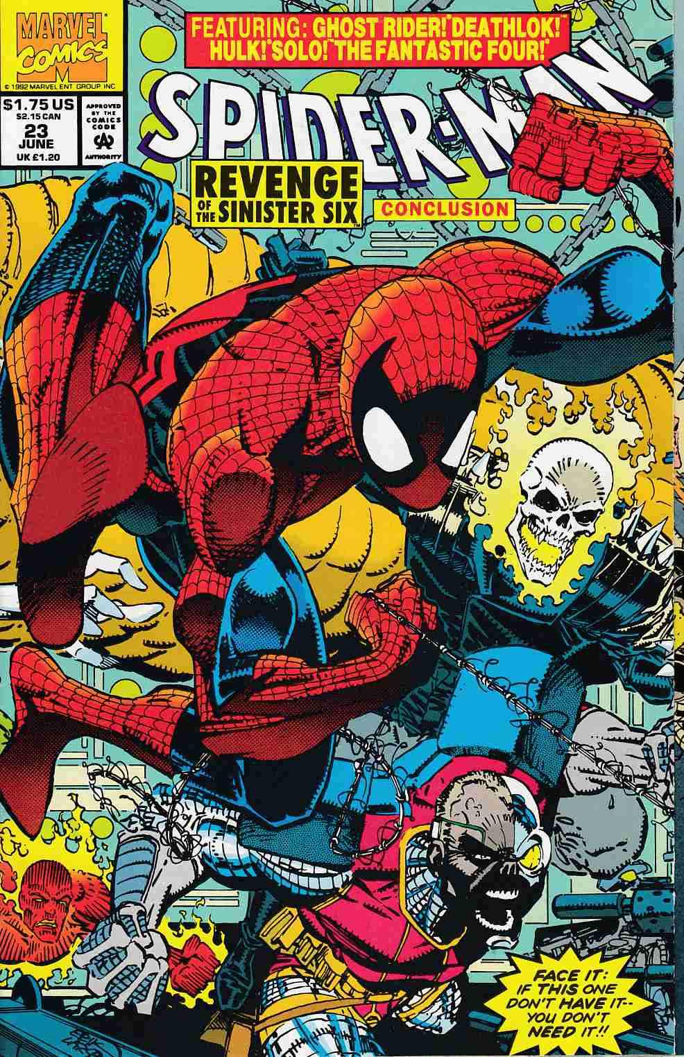 Spider-Man #23 Near MInt (9.4) [Marvel Comic] LARGE