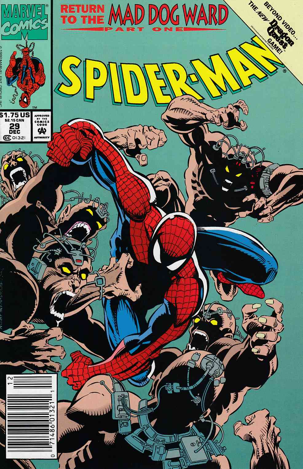 Spider-Man #29 Newsstand Edition Near Mint (9.4) [Marvel Comic] LARGE