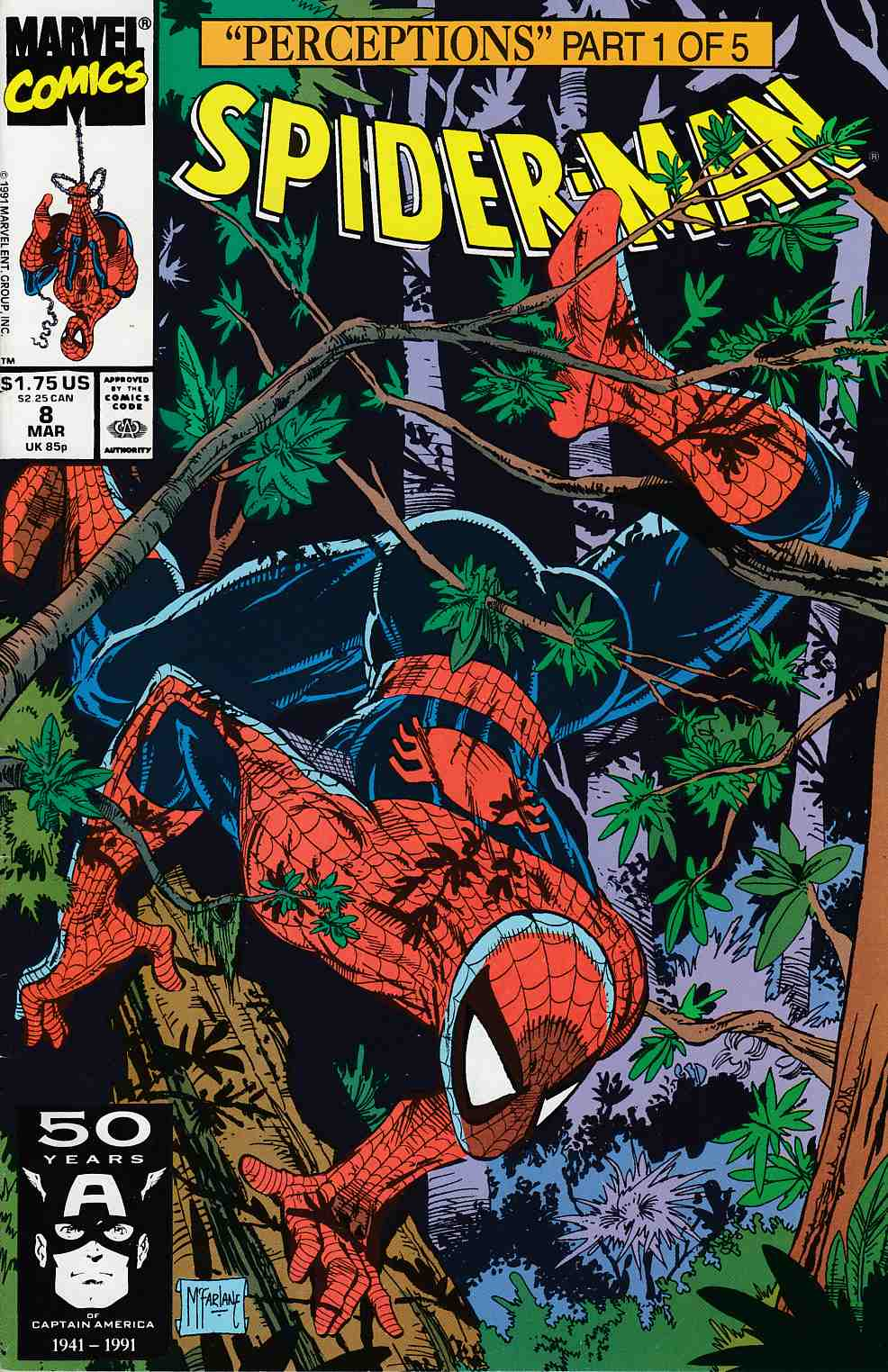Spider-Man #8 Very Fine Minus (7.5) [Marvel Comic] LARGE