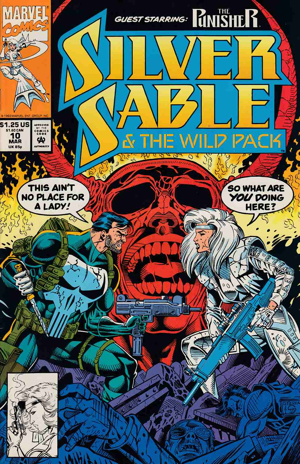 Silver Sable and the Wild Pack #10 Very Fine (8.0) [Marvel Comic] THUMBNAIL
