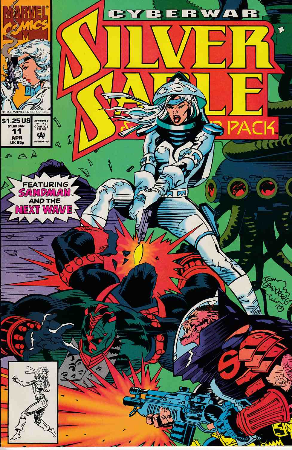 Silver Sable and the Wild Pack #11 Very Fine (8.0) [Marvel Comic] THUMBNAIL