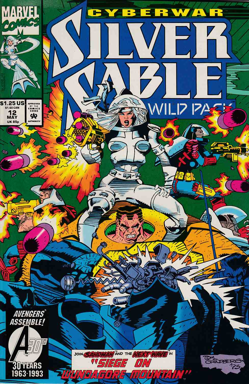 Silver Sable and the Wild Pack #12 Very Fine (8.0) [Marvel Comic] THUMBNAIL
