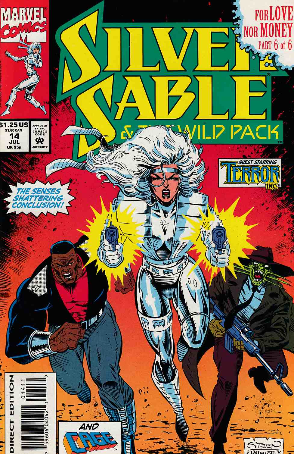 Silver Sable and the Wild Pack #14 Very Fine (8.0) [Marvel Comic] THUMBNAIL