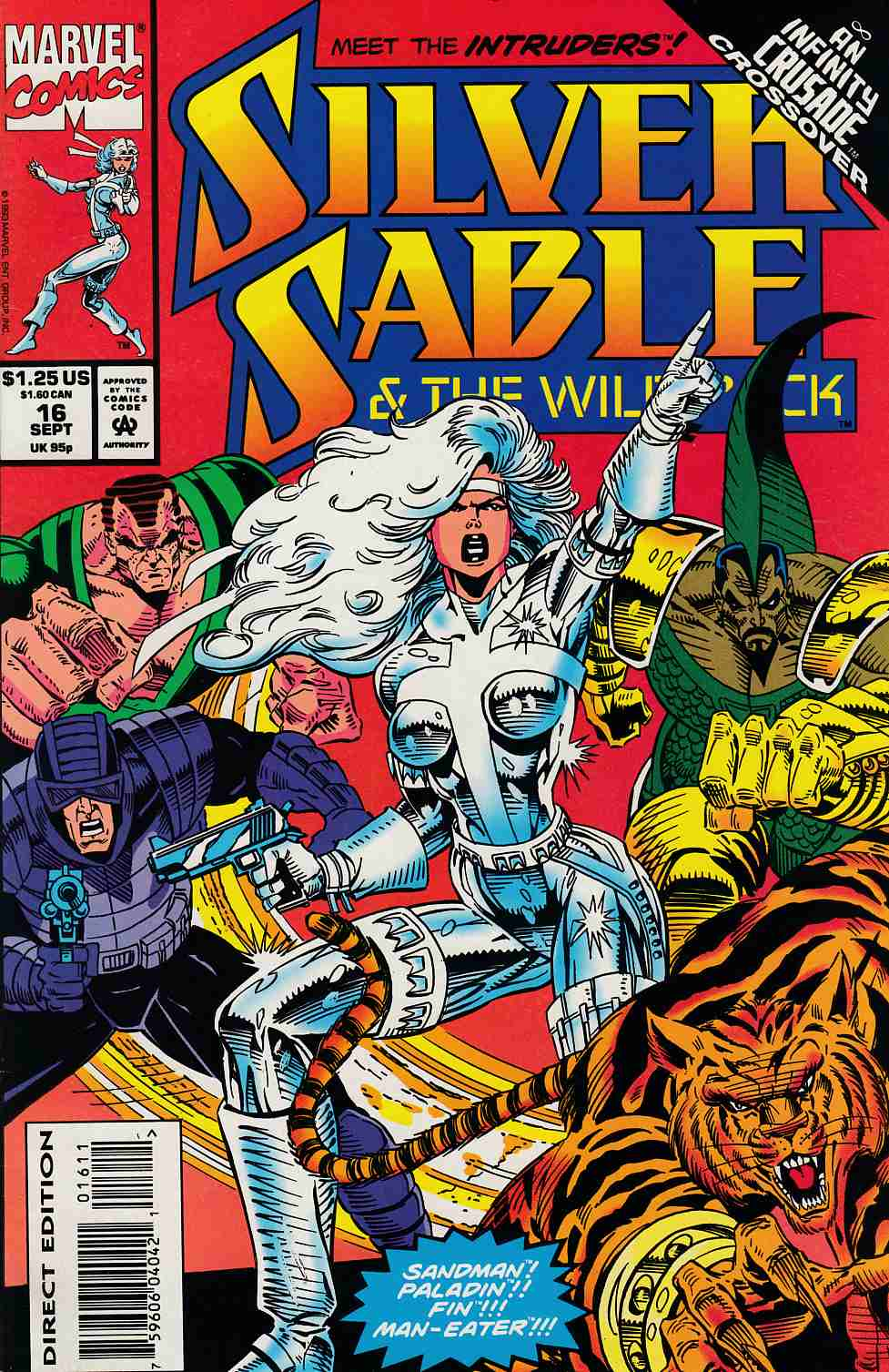 Silver Sable and the Wild Pack #16 Very Fine (8.0) [Marvel Comic] THUMBNAIL