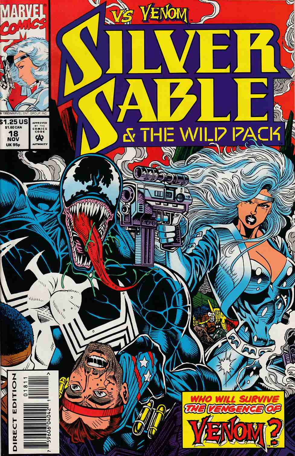 Silver Sable and the Wild Pack #18 Very Fine (8.0) [Marvel Comic] THUMBNAIL