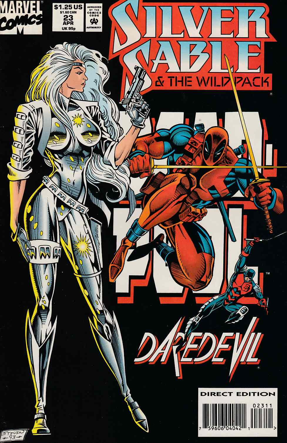 Silver Sable and the Wild Pack #23 Very Fine Minus (7.5) [Marvel Comic] THUMBNAIL