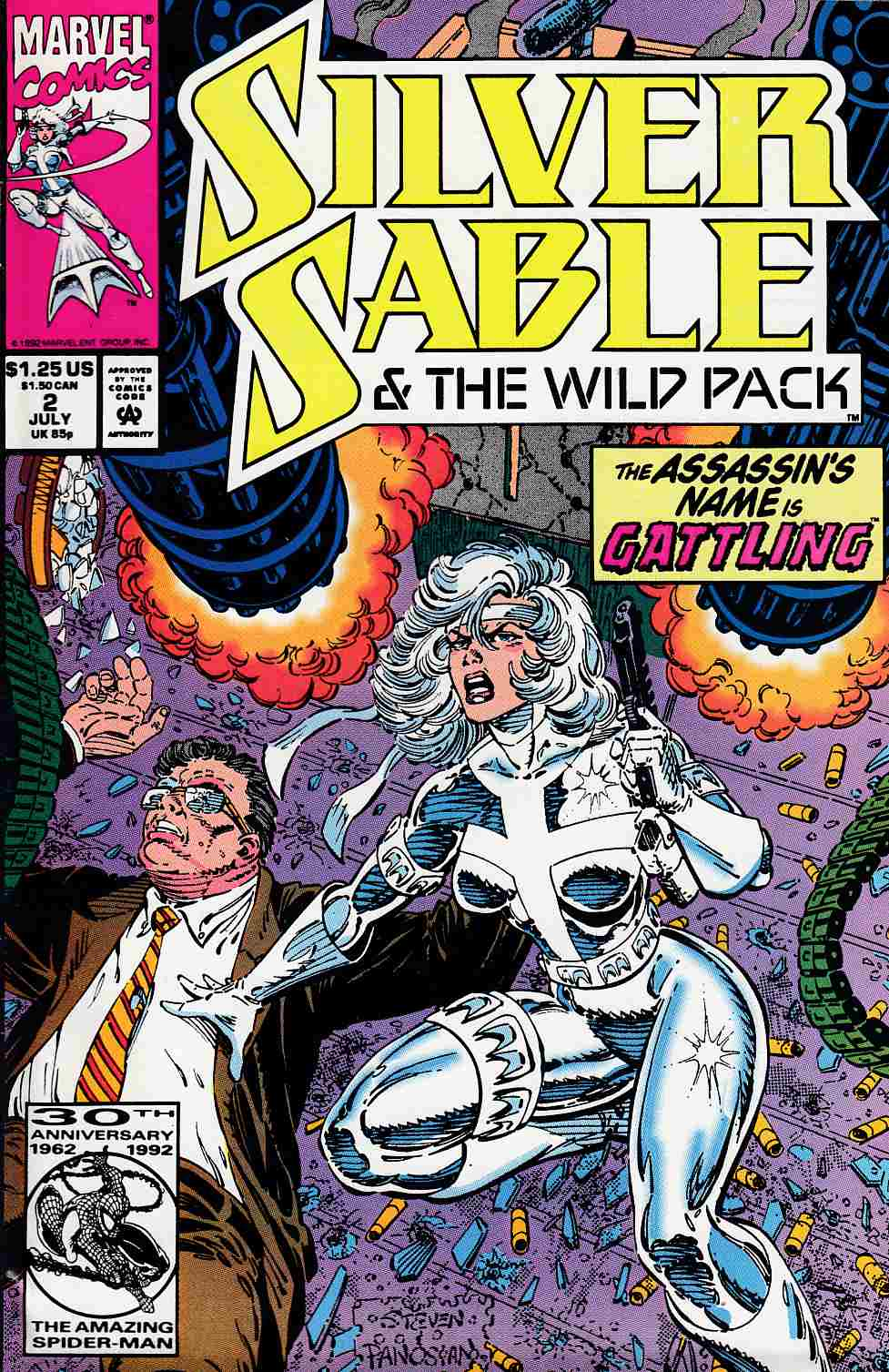 Silver Sable and the Wild Pack #2 Fine (6.0) [Marvel Comic] THUMBNAIL
