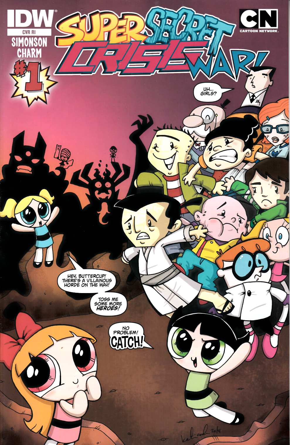Cartoon Network Super Secret Crisis War #1 Cover RI Near Mint (9.4) [IDW Comic] THUMBNAIL