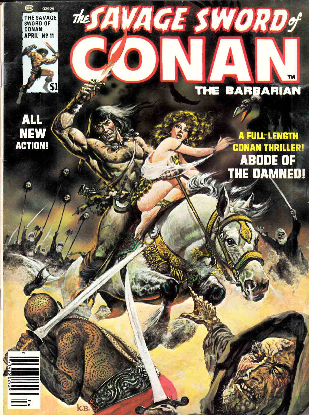 Savage Sword of Conan Magazine #11 Very Good (4.0) [Marvel Comic] THUMBNAIL