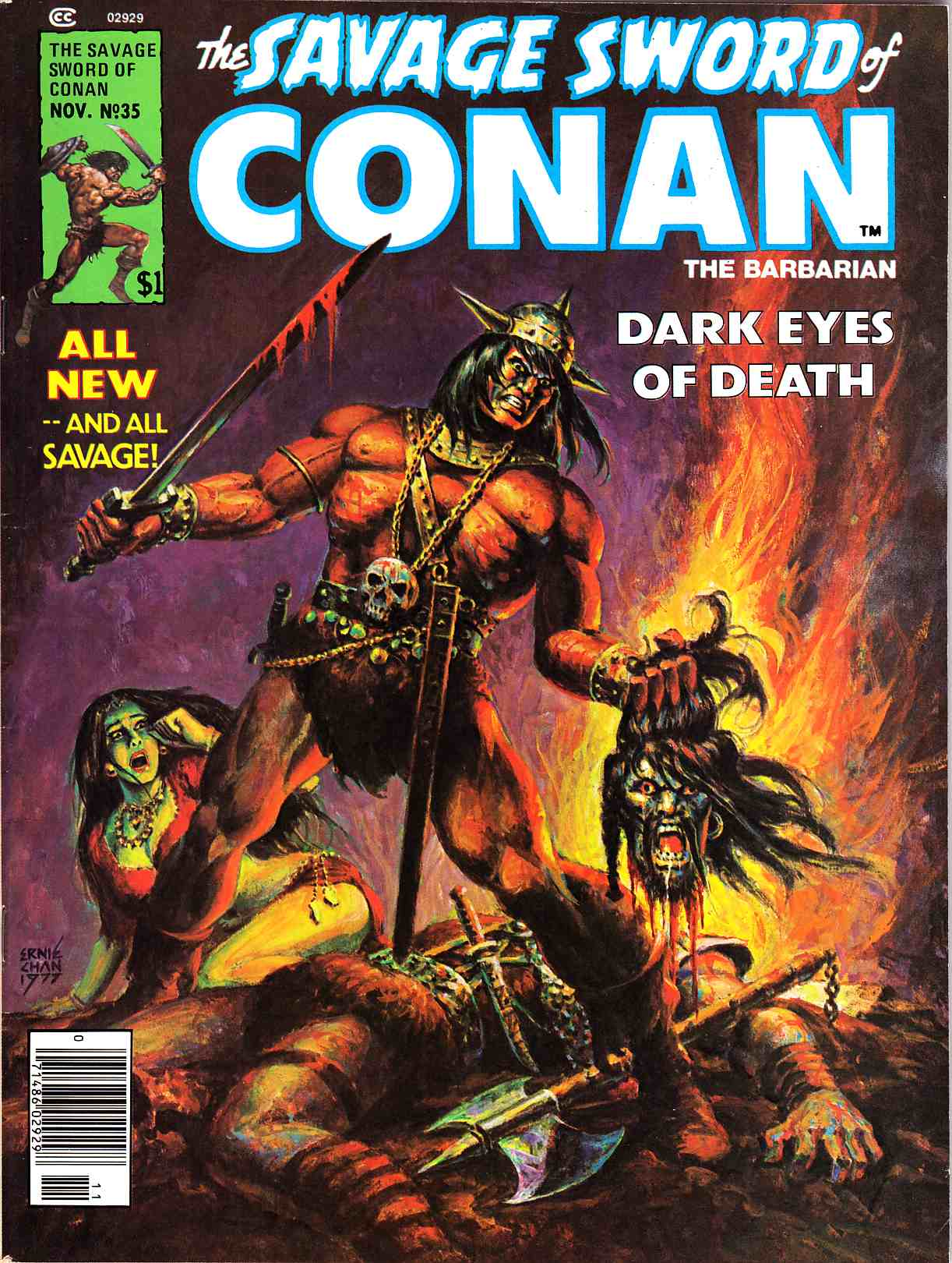 Savage Sword of Conan Magazine #35 Very Fine Minus (7.5) [Marvel Comic] THUMBNAIL