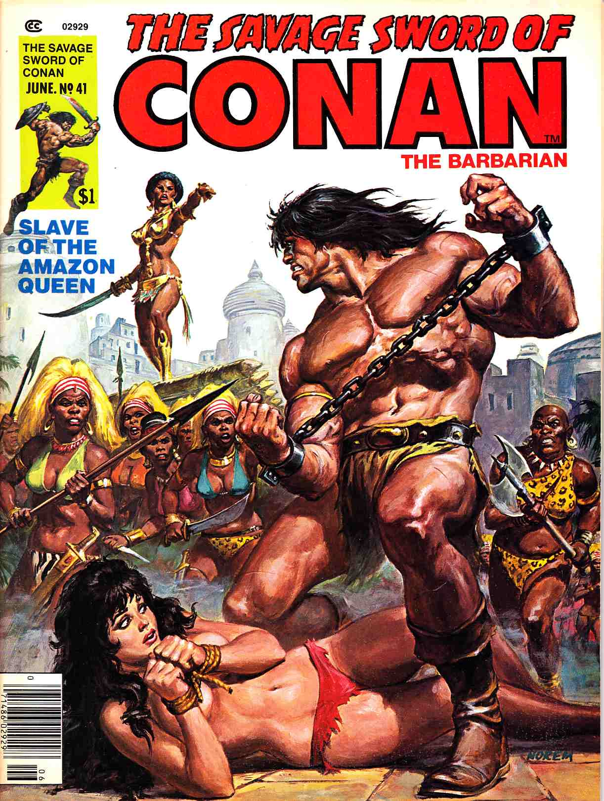 Savage Sword of Conan Magazine #41 Very Fine Minus (7.5) [Marvel Comic] THUMBNAIL