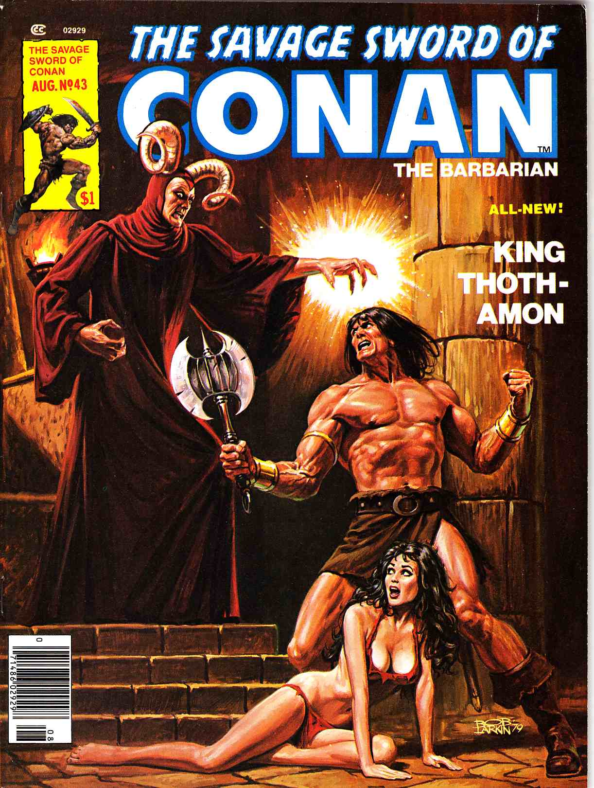 Savage Sword of Conan Magazine #43 Very Fine Plus (8.5) [Marvel Comic] THUMBNAIL