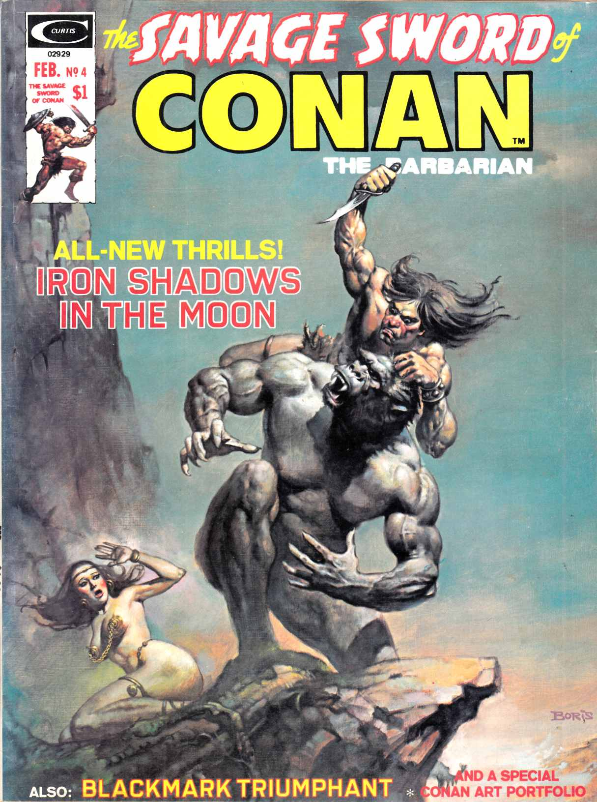 Savage Sword of Conan Magazine #4 Very Fine (8.0) [Marvel Comic] THUMBNAIL