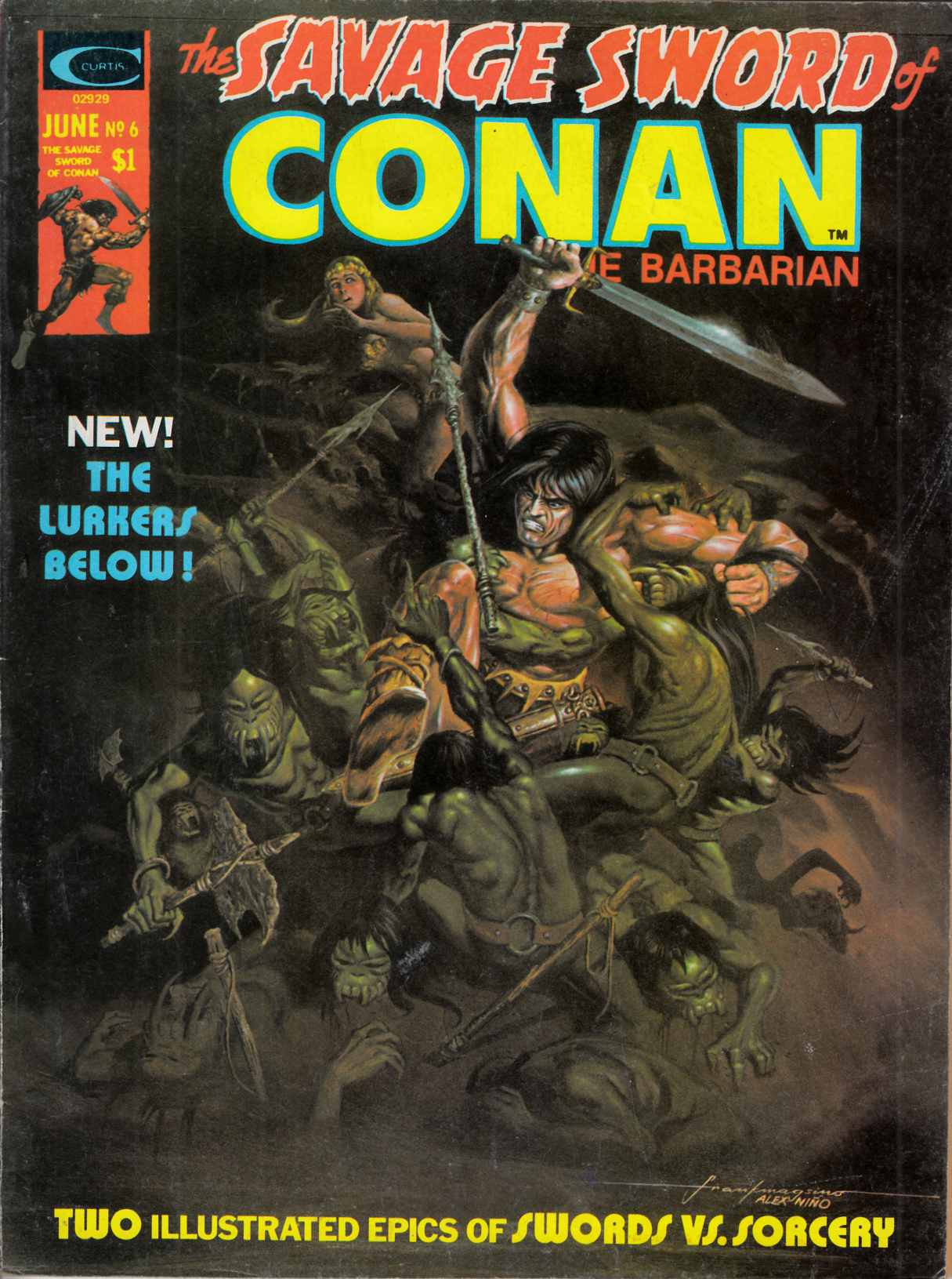 Savage Sword of Conan Magazine #6 Very Fine Minus (7.5) [Marvel Comic] THUMBNAIL