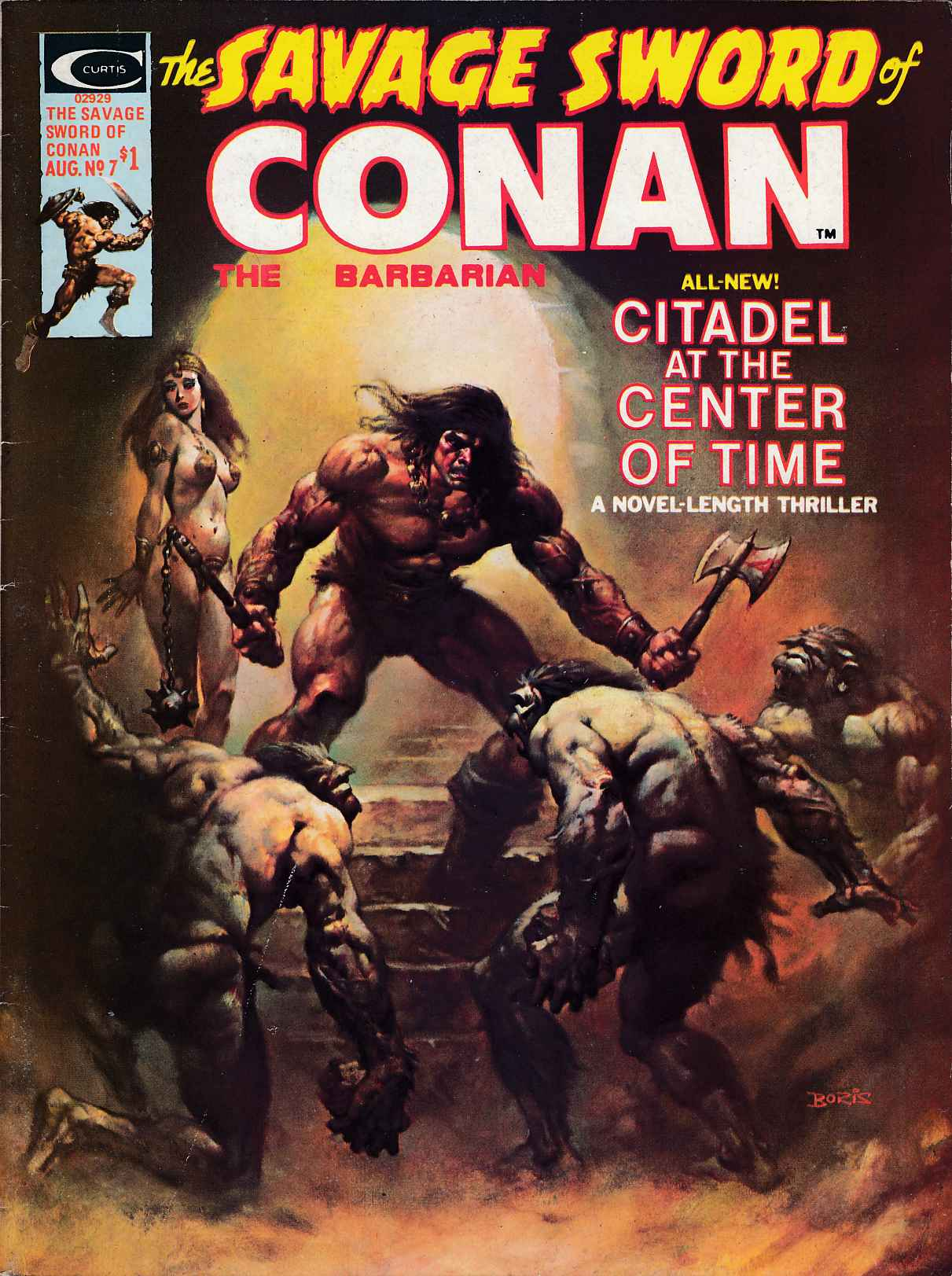Savage Sword Of Conan #7 Fine Plus (6.5) [Marvel Comic]_THUMBNAIL