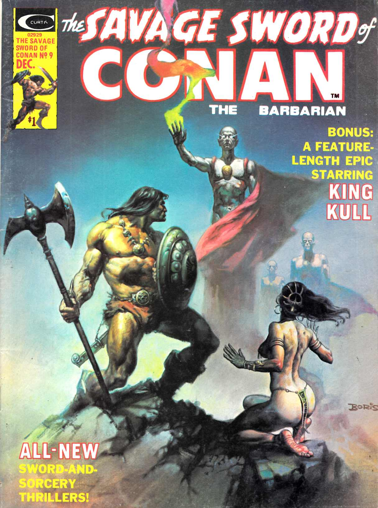 Savage Sword of Conan Magazine #9 Fine (6.0) [Marvel Comic] THUMBNAIL