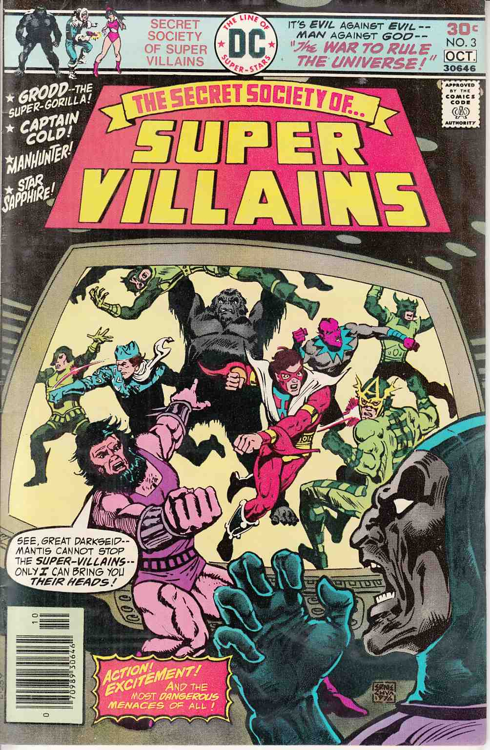 Secret Society of Super Villains #3 Near Mint Minus (9.2)  [DC Comic] LARGE