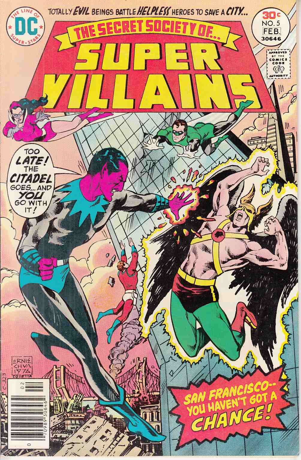 Secret Society of Super Villains #5 Near Mint Minus (9.2)  [DC Comic] LARGE