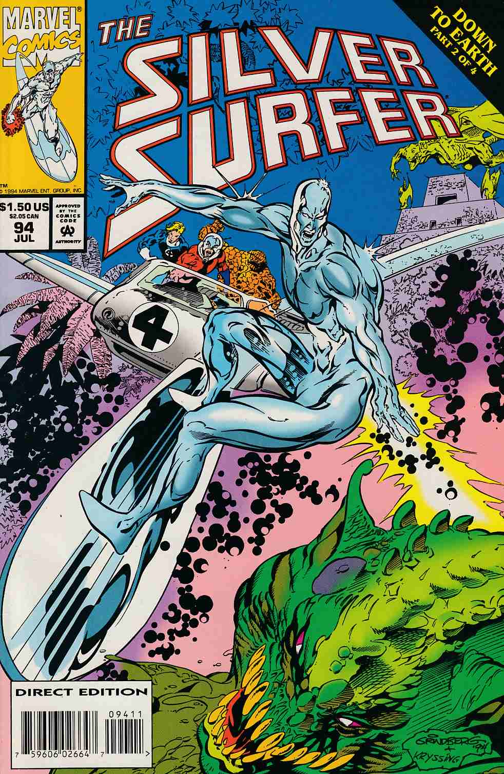 Silver Surfer #94 Very Fine (8.0) [Marvel Comic] LARGE