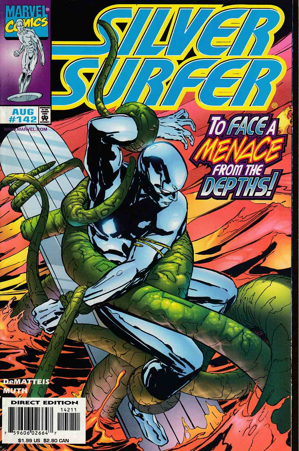 Silver Surfer #142 Very Fine (8.0) [Marvel Comic] LARGE