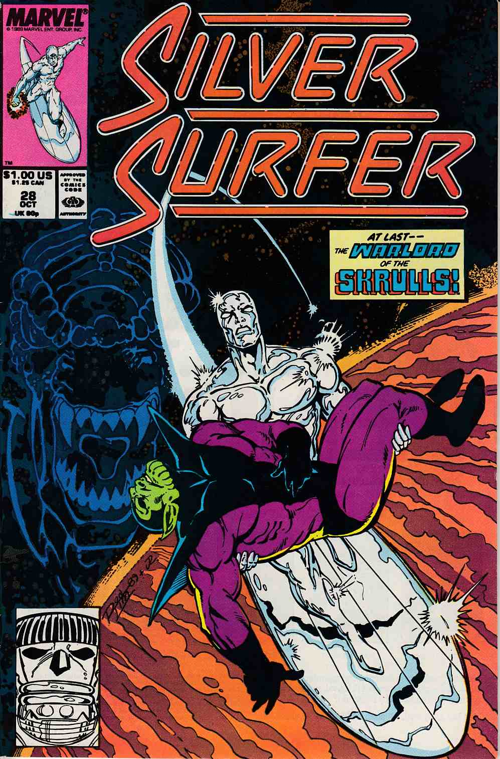 Silver Surfer #28 Fine (6.0) [Marvel Comic] LARGE