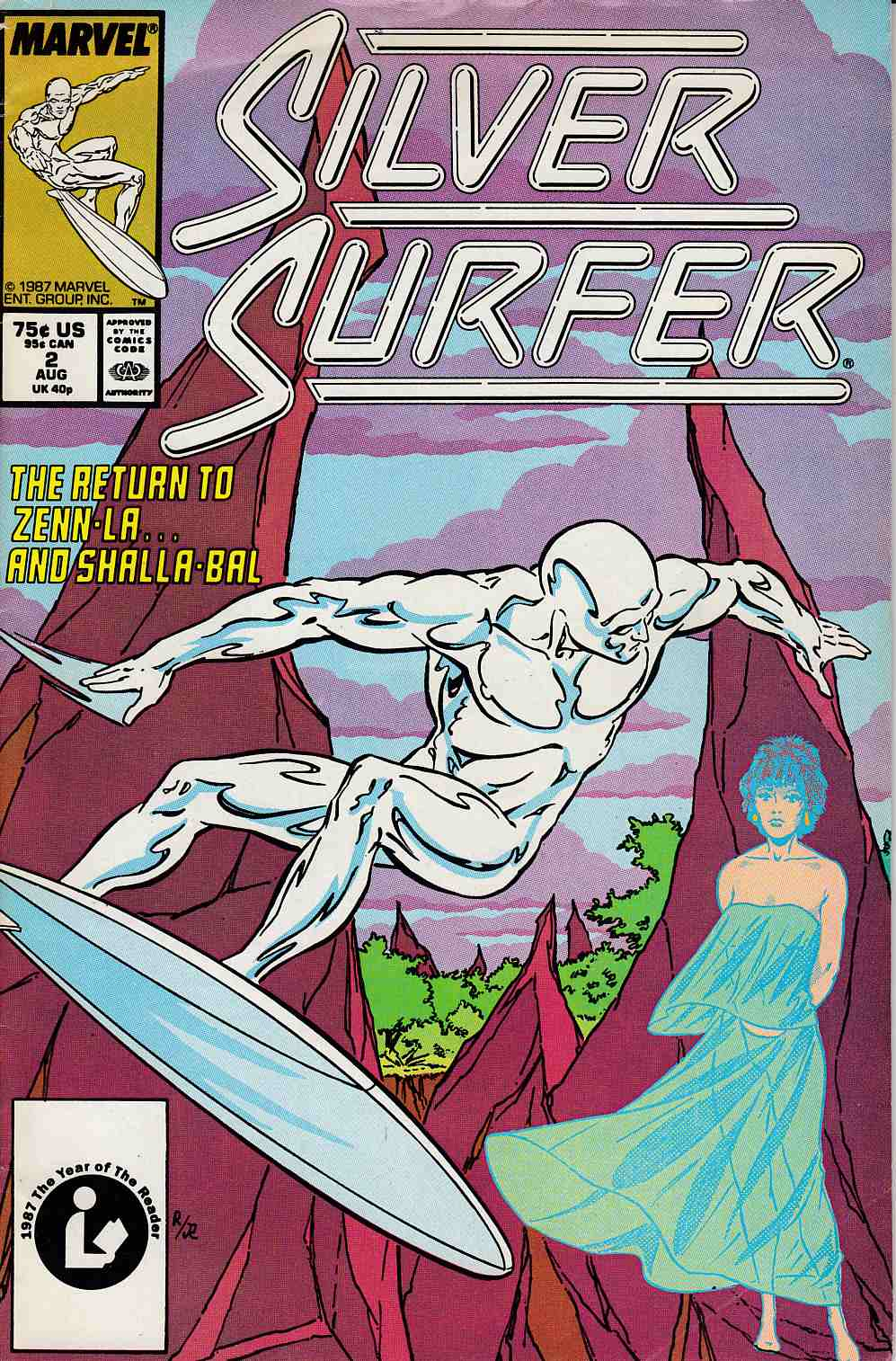 Silver Surfer #2 Very Good/Fine (5.0) [Marvel Comic] LARGE