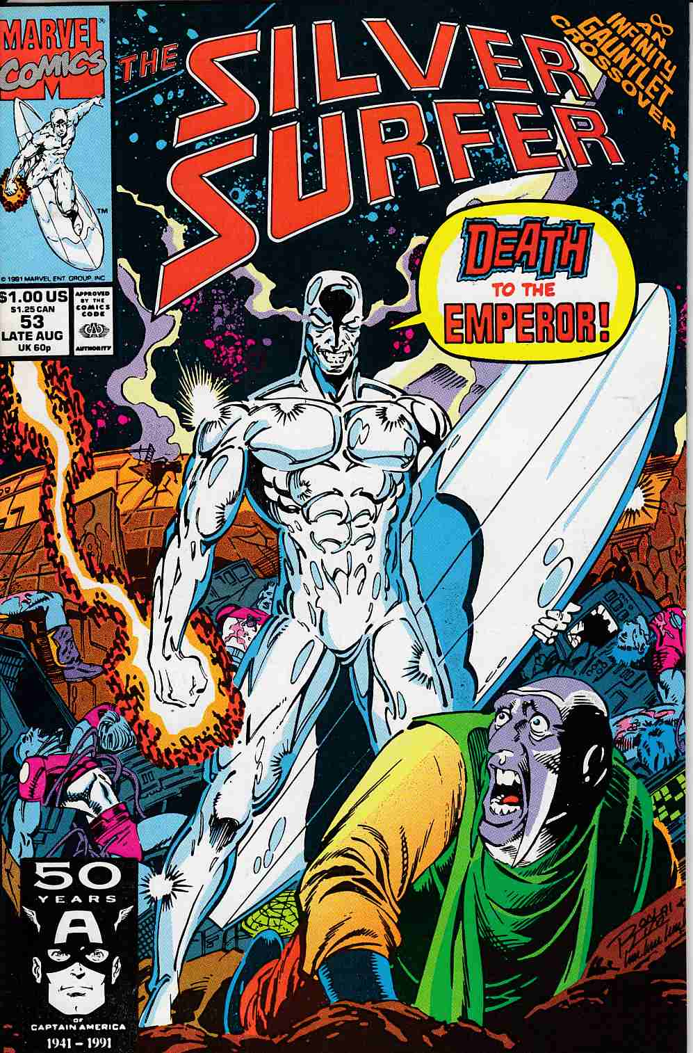 Silver Surfer #53 Very Fine (8.0) [Marvel Comic] LARGE