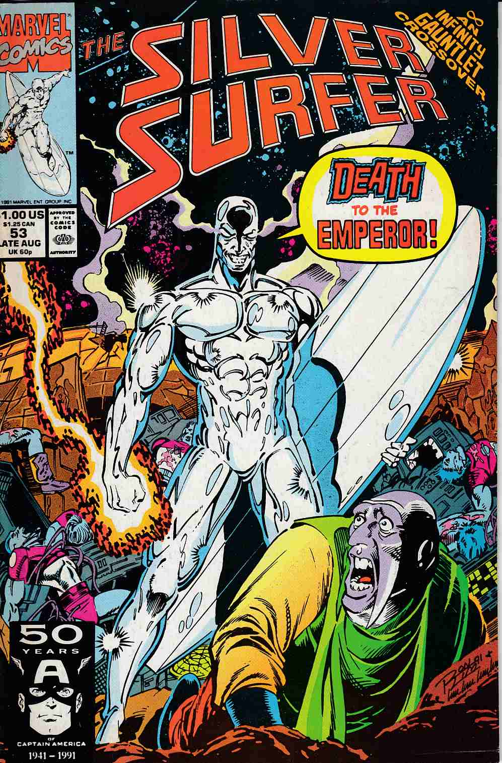 Silver Surfer #53 Fine/Very Fine (7.0) [Marvel Comic] LARGE