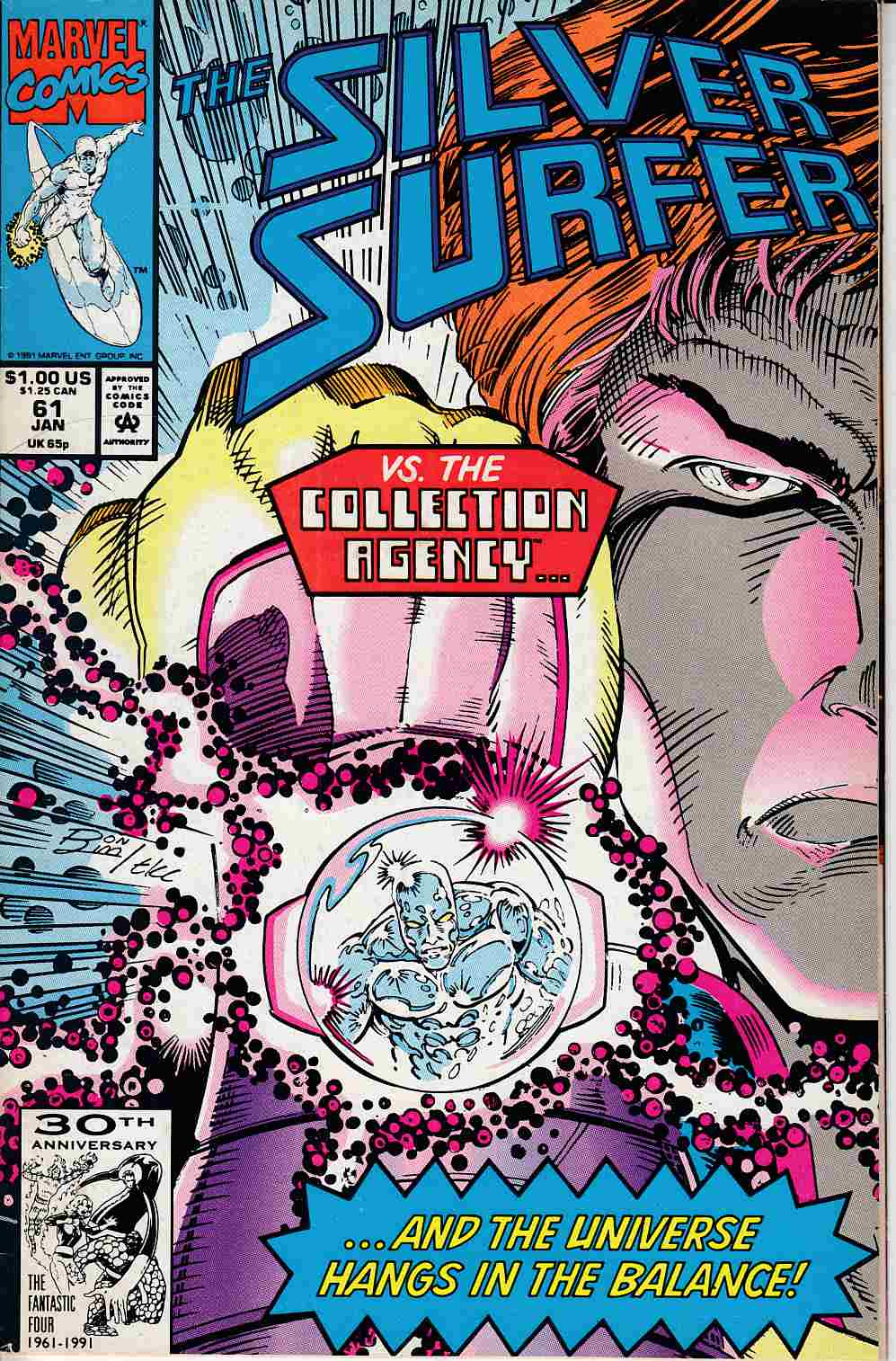 Silver Surfer #61 Fine (6.0) [Marvel Comic] LARGE