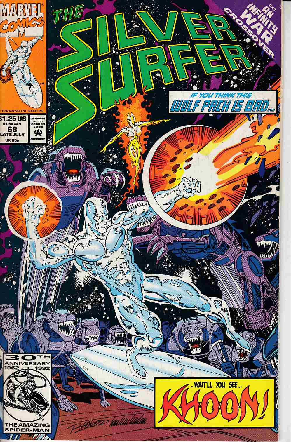 Silver Surfer #68 Fine (6.0) [Marvel Comic] LARGE