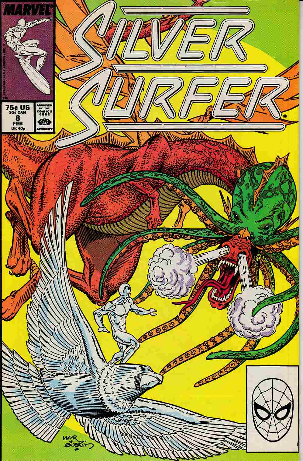Silver Surfer #8 Fine (6.0) [Marvel Comic] LARGE