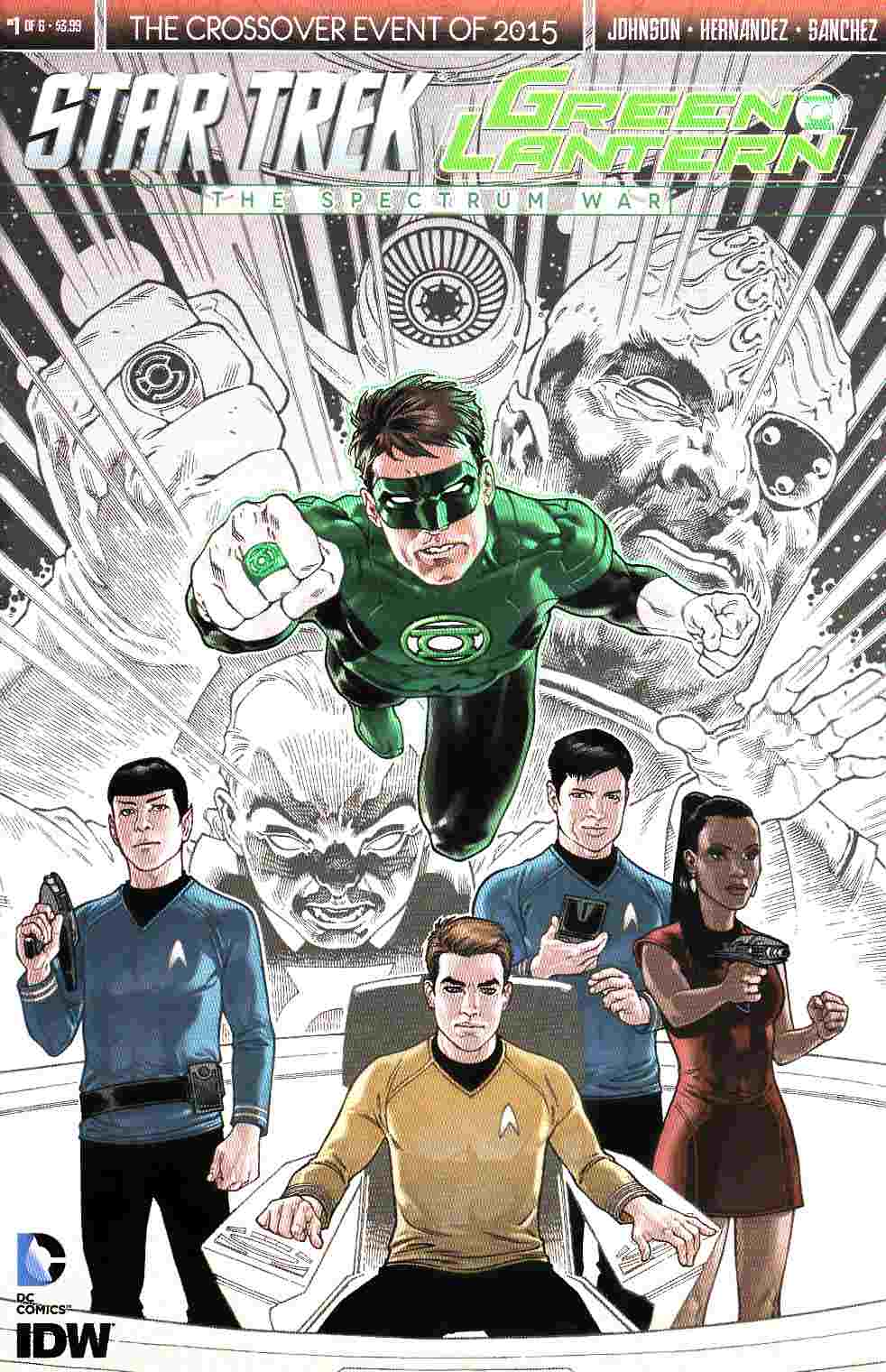 Star Trek Green Lantern #1 Second Printing [IDW Comic] LARGE