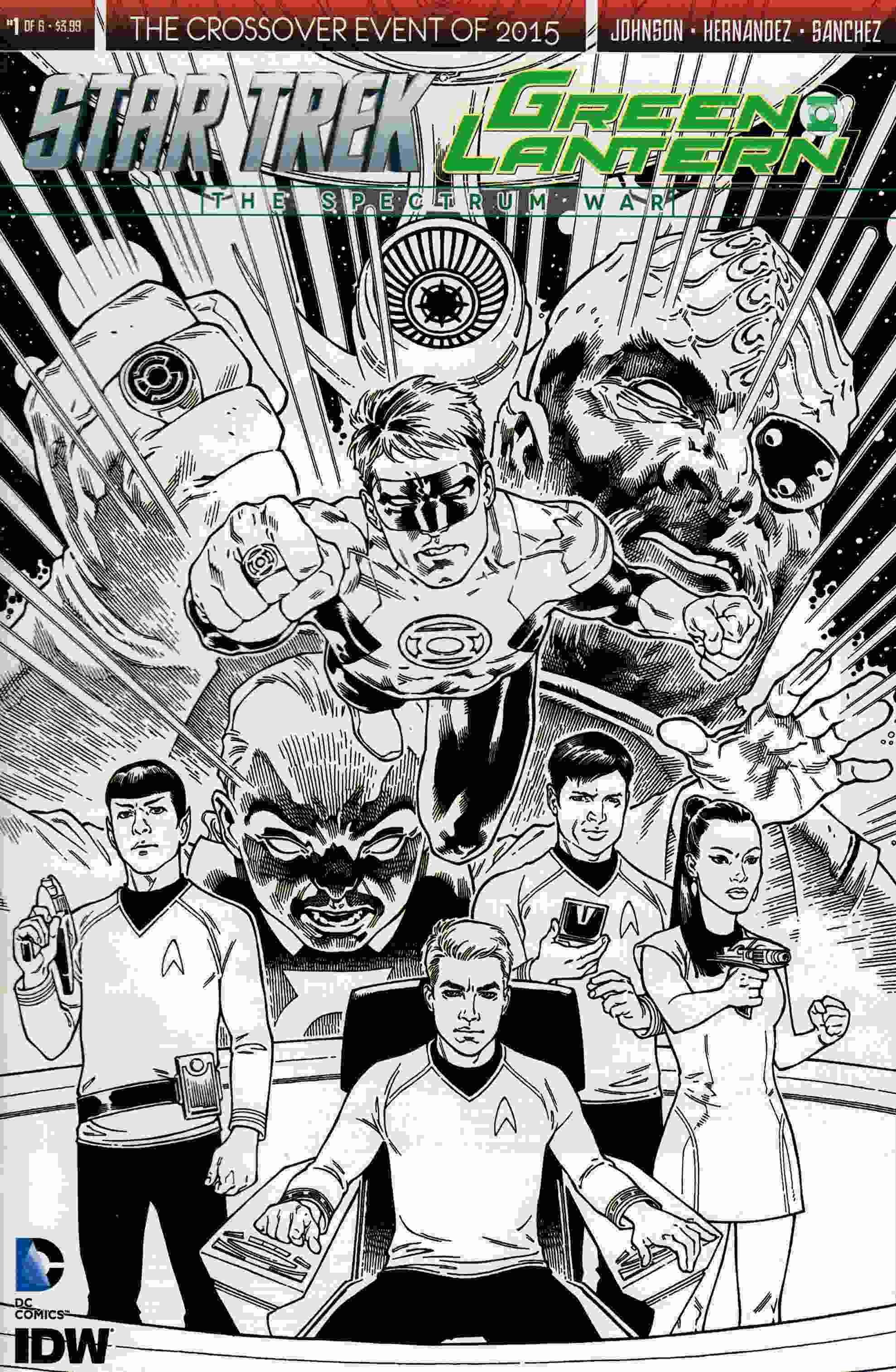 Star Trek Green Lantern #1 Third Printing [IDW Comic]