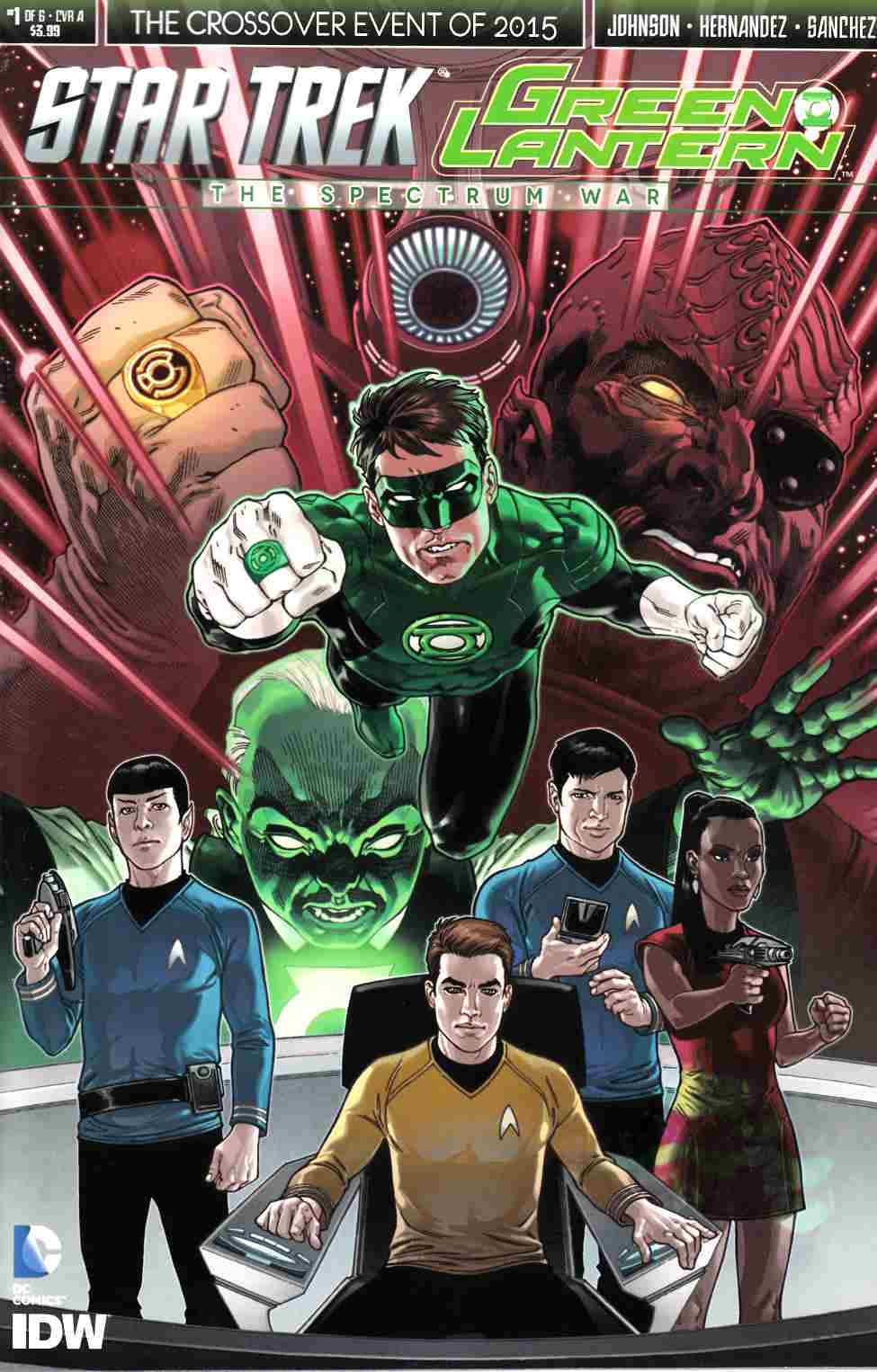 Star Trek Green Lantern #1 Cover A- Rodriguez [IDW Comic]