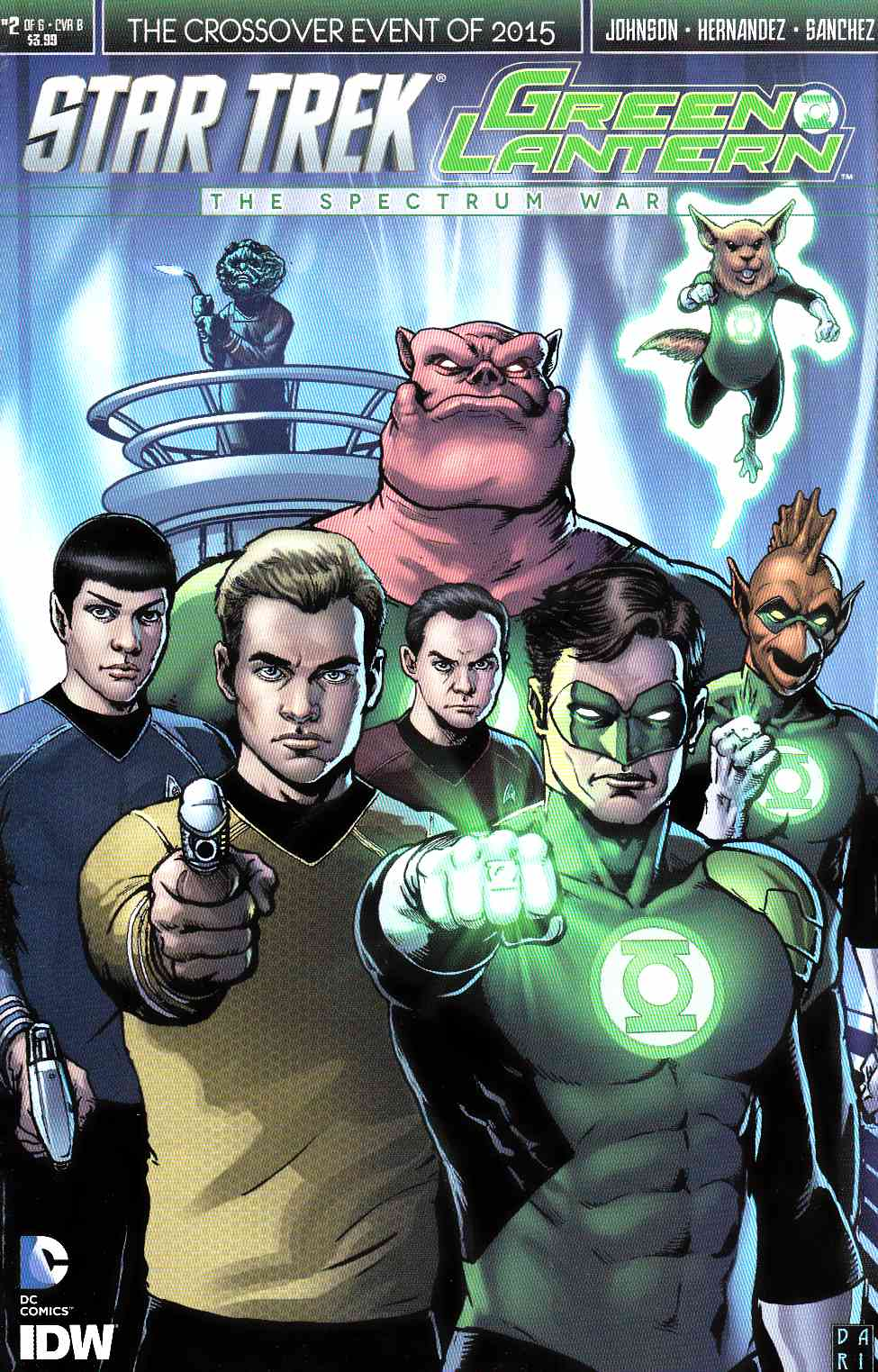 Star Trek Green Lantern #2 Cover B- Robertson [IDW Comic]