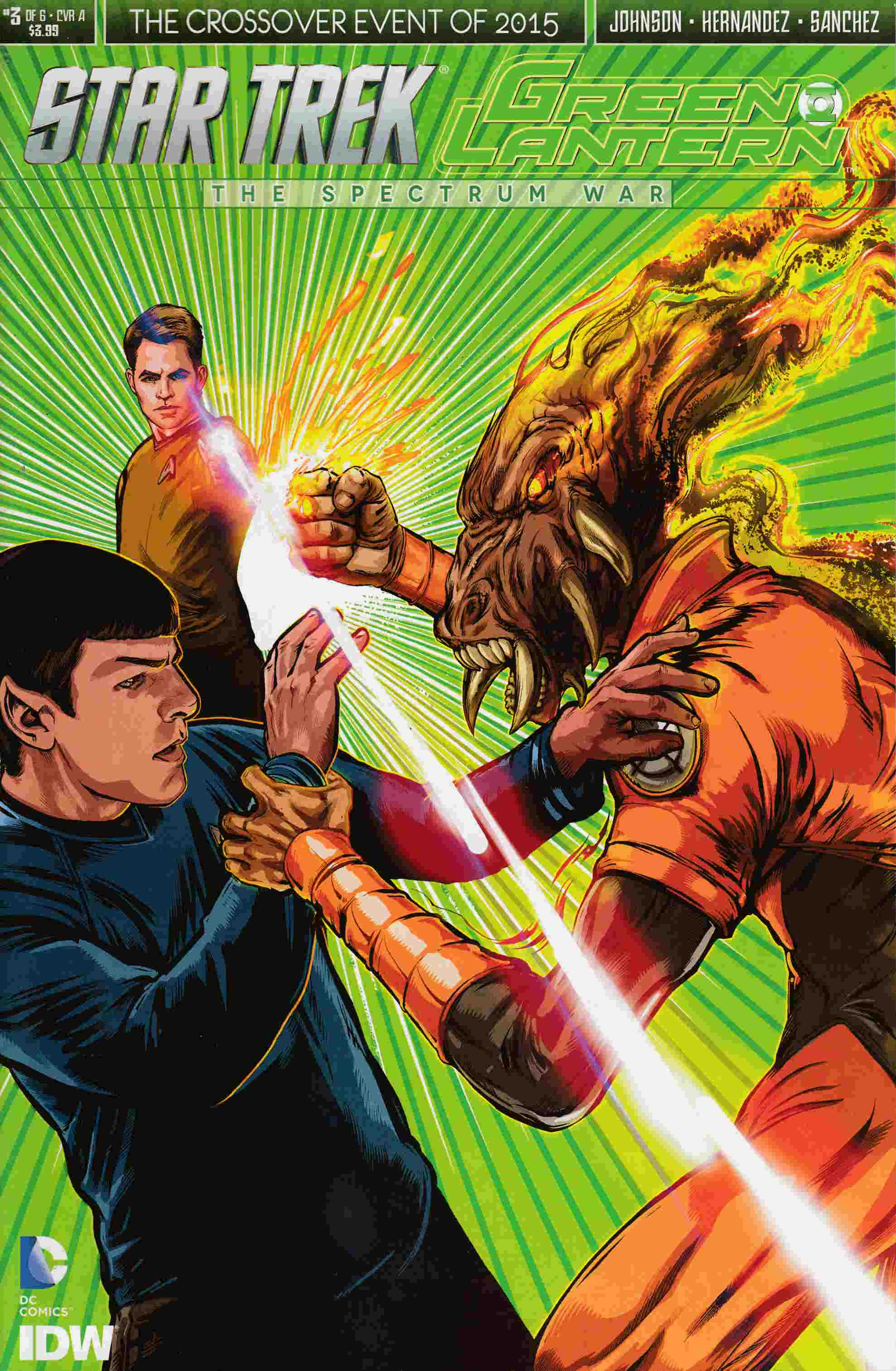 Star Trek Green Lantern #3 Cover A- Shasteen [IDW Comic]