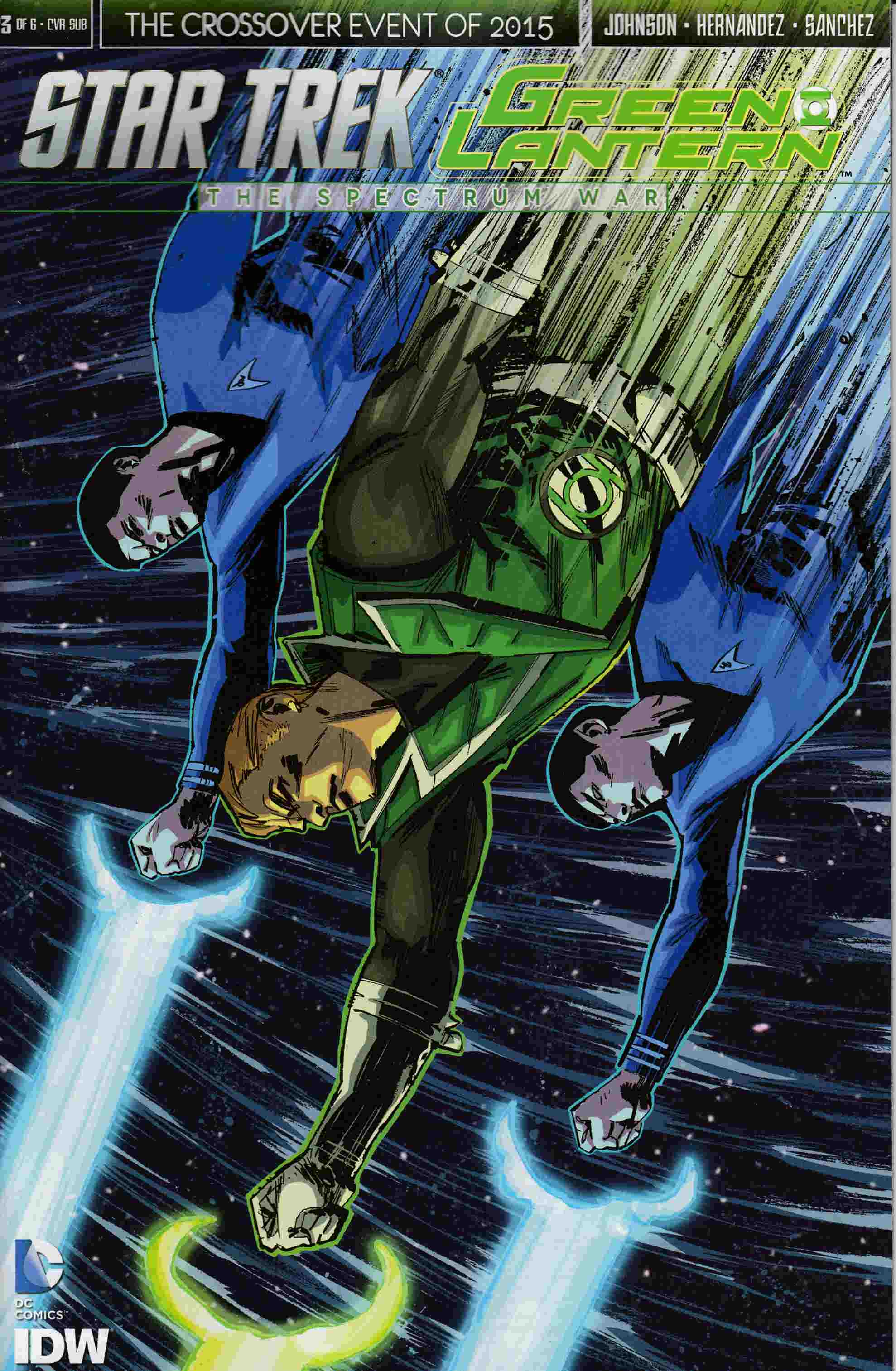 Star Trek Green Lantern #3 Cover C- Subscription [IDW Comic]