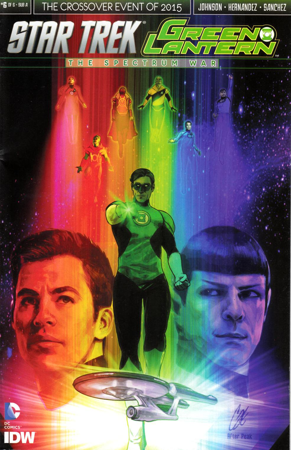 Star Trek Green Lantern #6 Staggs Subscription Cover [IDW Comic] THUMBNAIL