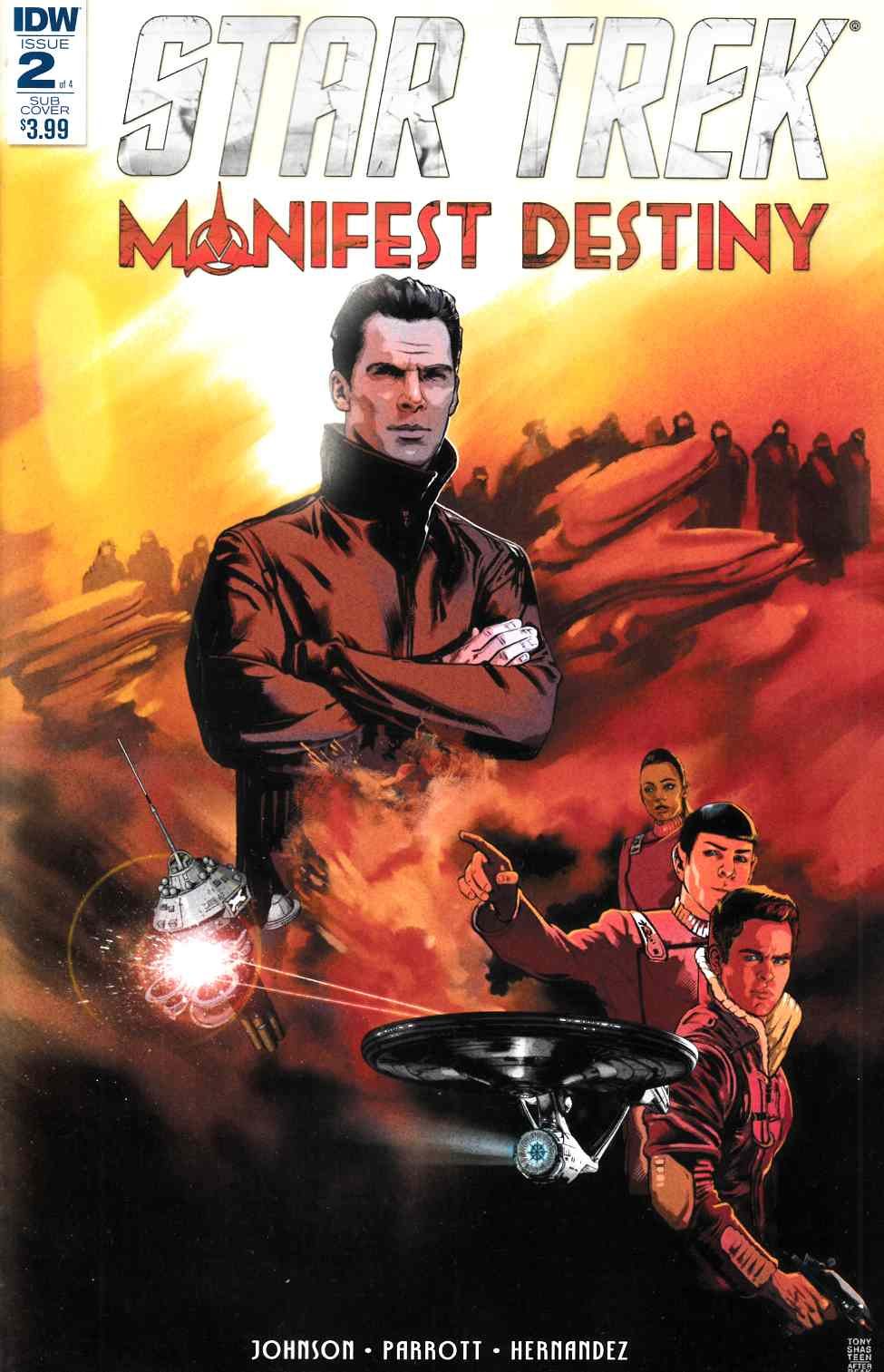 Star Trek Manifest Destiny #2 Subscription Cover [IDW Comic] THUMBNAIL