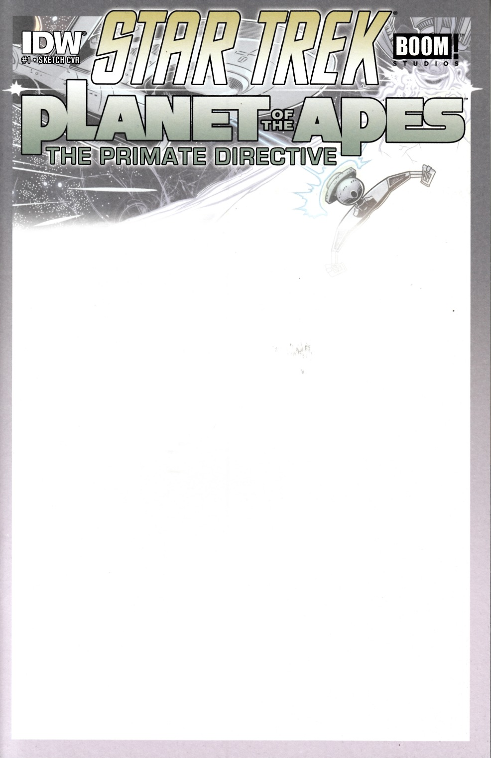 Star Trek Planet of the Apes #1 Blank Subscription Cover Near Mint (9.4) [IDW Comic]