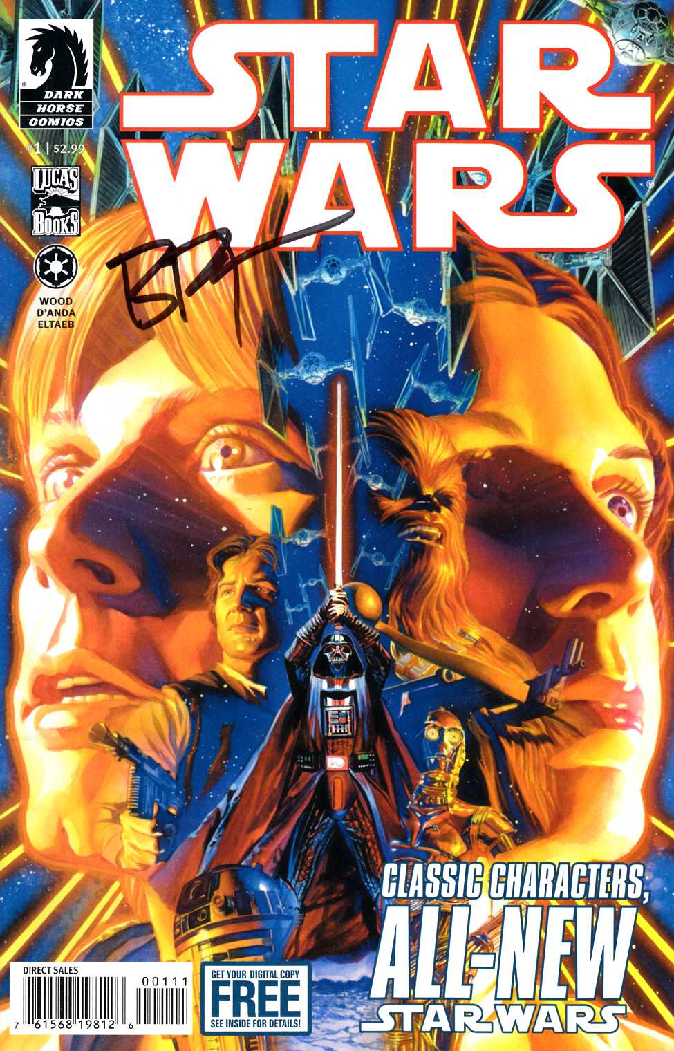Star Wars #1 Brian Wood Signed Edition [Dark Horse Comic] LARGE