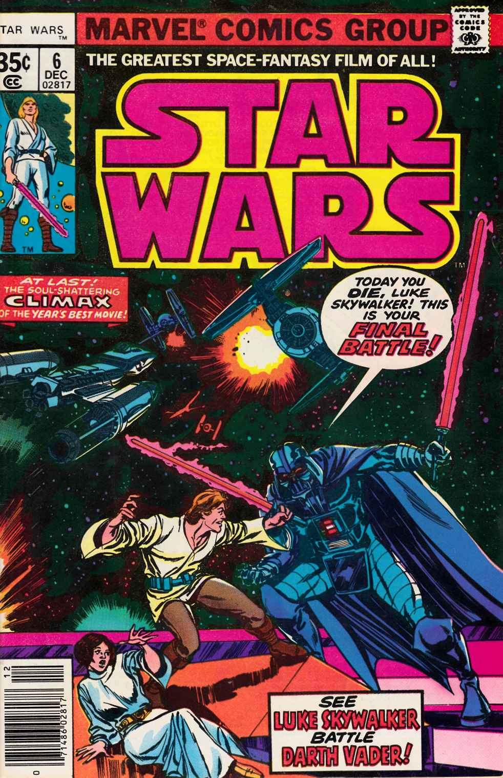 Star Wars #6 Fine (6.0) [Marvel Comic] THUMBNAIL